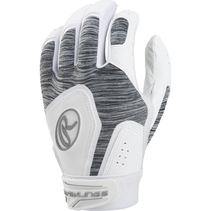 Rawlings Storm Women/'s Fastpitch Softball Batting Gloves White